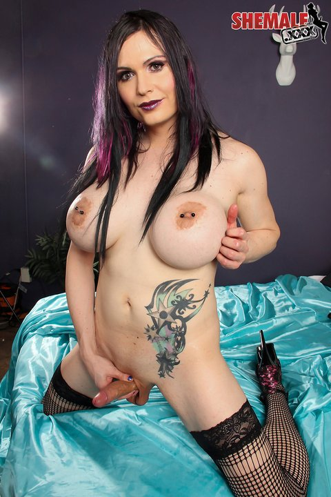 shemale Kitty Doll is a sexy full bodied tgirl with huge boobs